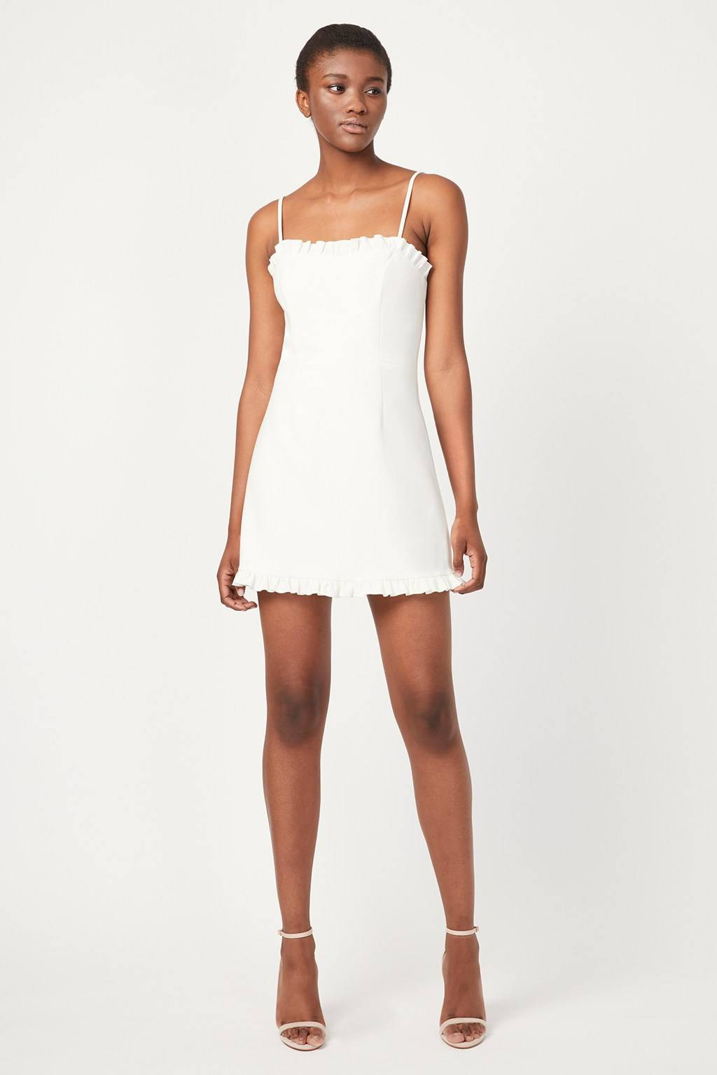 French Connenction Whisper Ruth Frill Dress