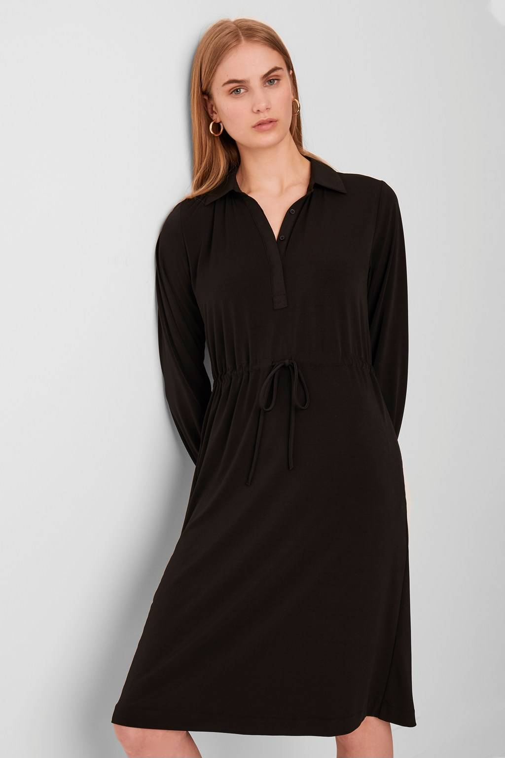 French Connenction Moss Slinky Jersey Shirt Dress