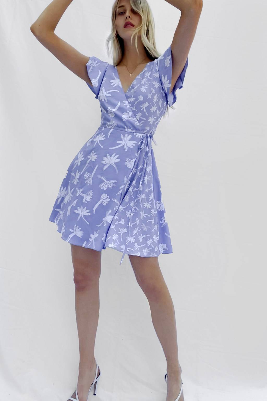 French Connenction ARABELLA CREPE PRINTED WRAP DRESS