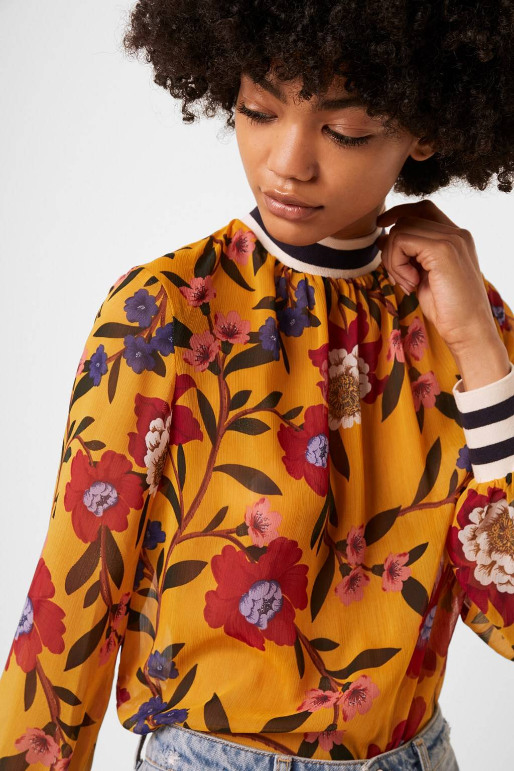 French Connenction Eloise Crinkle Printed Top