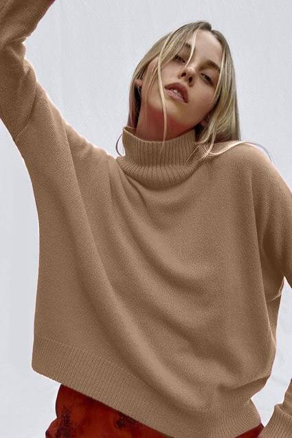 French Connenction CASHMERE BLEND LONGSLEEVE HIGH NECK SWEATER