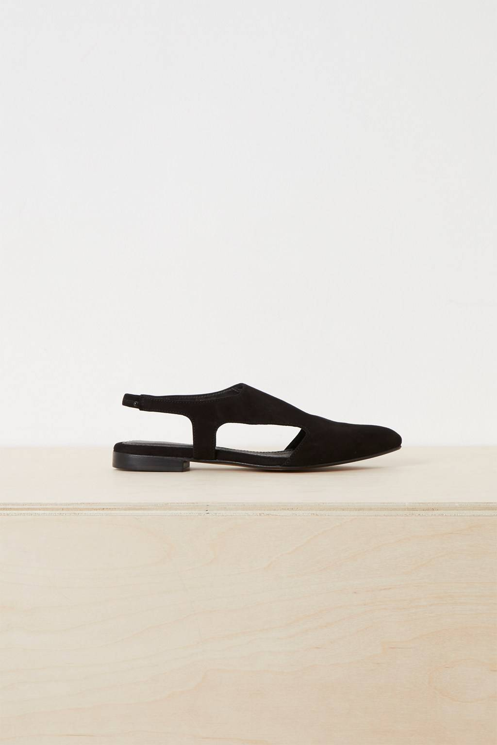 French Connenction Roxy Cut-Out Pointy Flat Shoes