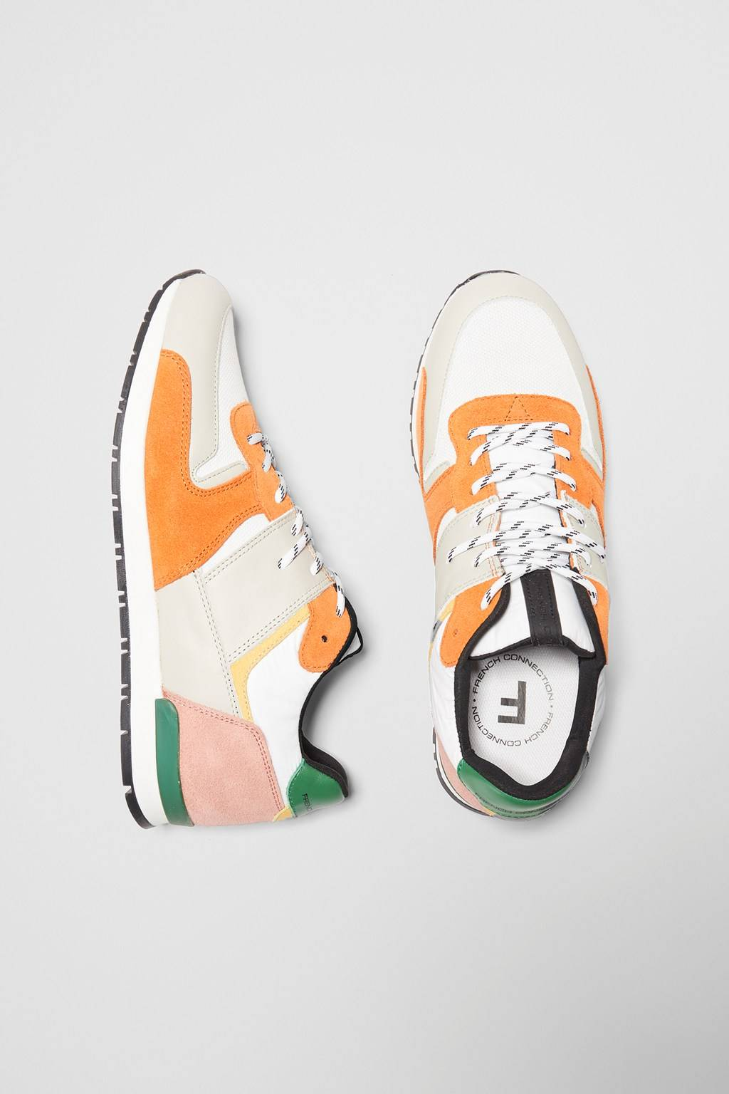 French Connenction Multi Panel Runner Sneakers