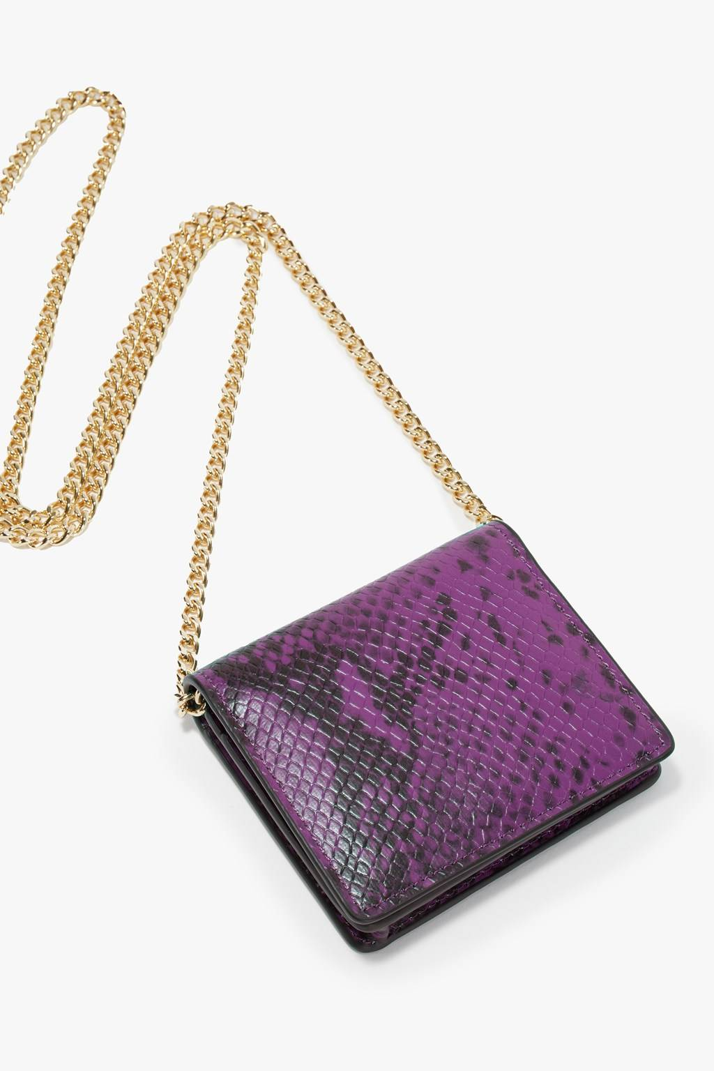 French Connenction Ines Python Card Holder