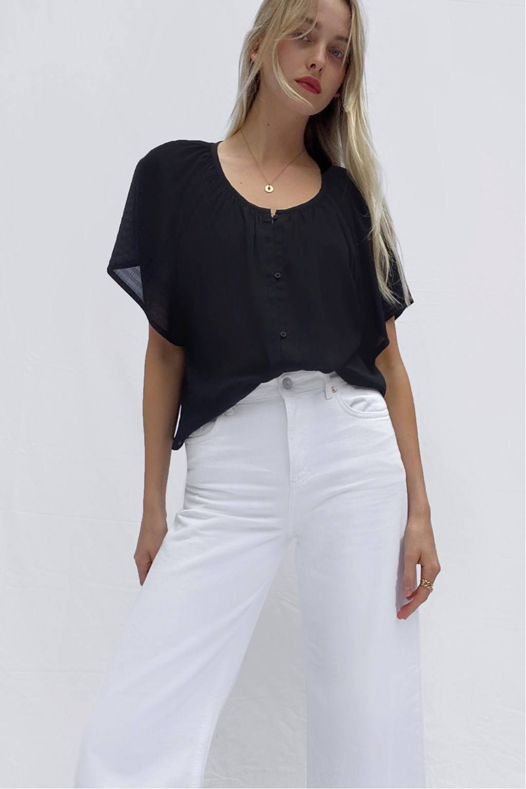 French Connenction CLAR SMOCK TOP
