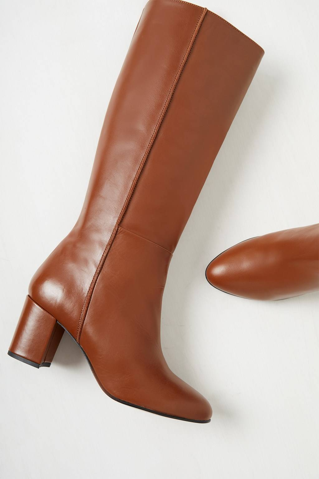 French Connenction Renzo Leather Knee High Boots