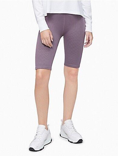 Calvin Klein Performance Ribbed High Waist Bike Shorts