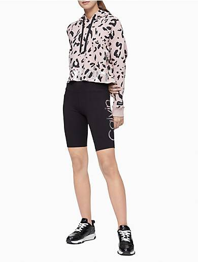 Calvin Klein Performance Logo High Waist Bike Shorts
