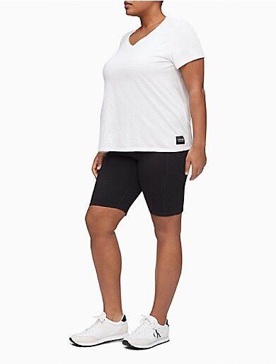 Calvin Klein Performance Plus Size High Waist 9 Bike Shorts