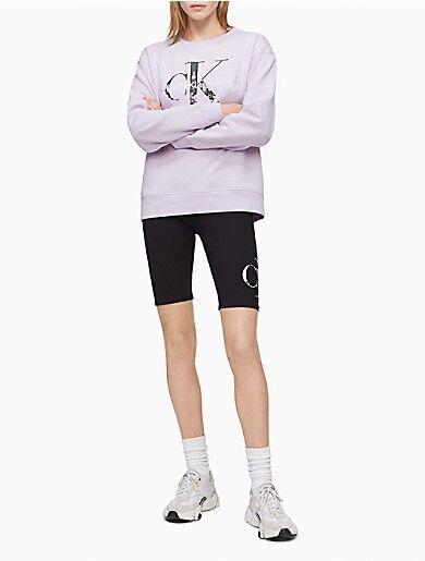 Calvin Klein City Monogram Logo High Rise Bike Shorts