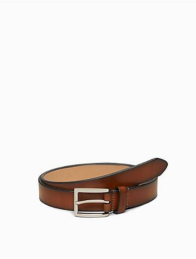 Calvin Klein Burnished Leather Belt