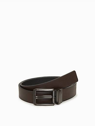 Calvin Klein Reversible Solid Leather Belt