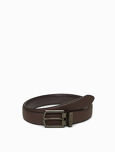 Calvin Klein Saffiano Leather Dress Belt