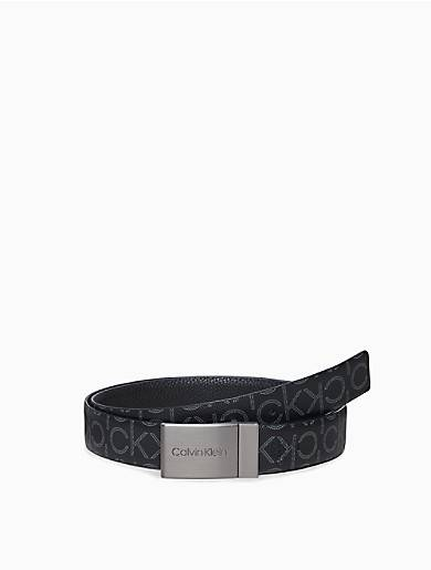 Calvin Klein Pebble Reversible Plaque Belt