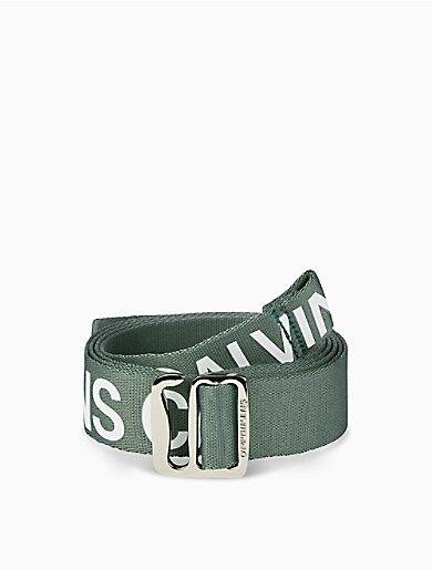 Calvin Klein Nylon Logo Tape Slider Belt