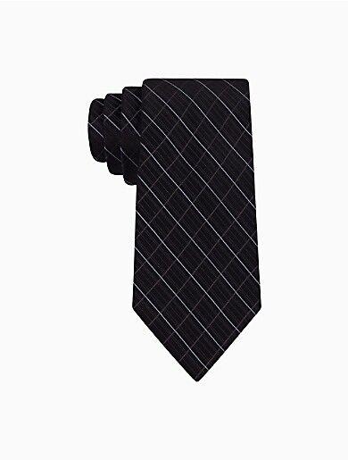 Calvin Klein Silk Etched Windowpane Slim Tie