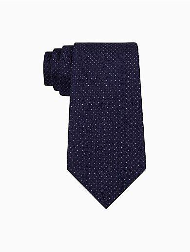 Calvin Klein Steel Micro Dot Check Tie