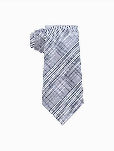Calvin Klein Hi-Ridge Plaid Tie