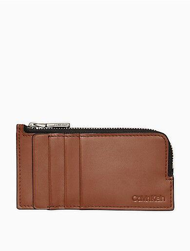 Calvin Klein Box Calf Long L-Zip Wallet