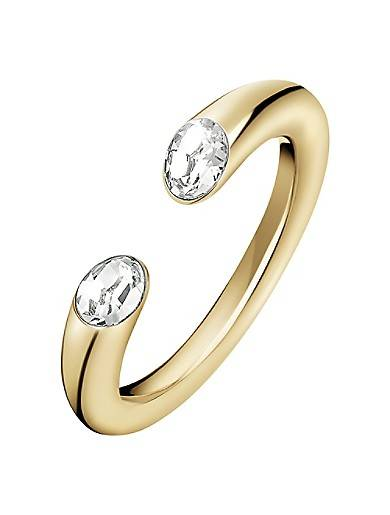 Calvin Klein Brilliant Gold Crystal Ring
