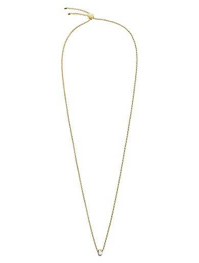 Calvin Klein Brilliant Gold Crystal Necklace
