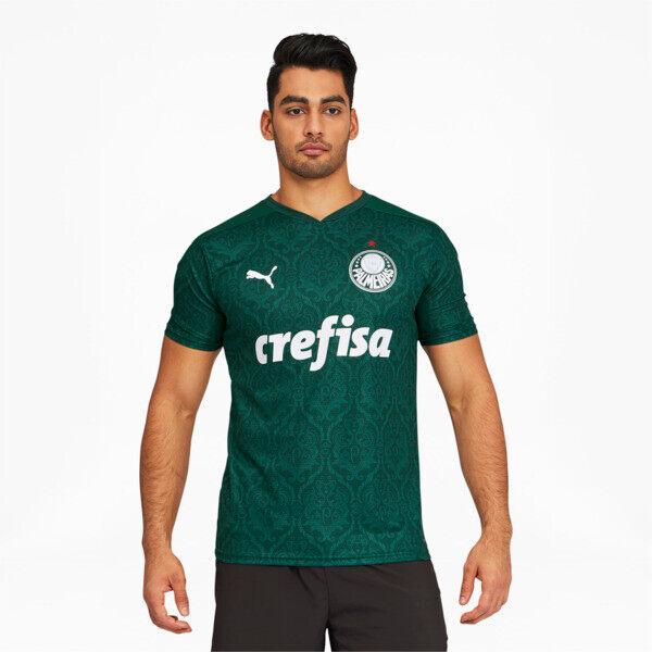 Puma Palmeiras Men's Home Replica Soccer Jersey in Evergreen, Size S
