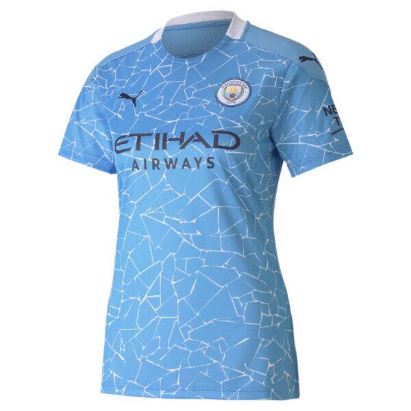 Puma Manchester City FC Women's Home Replica Soccer Jersey in Team Light Blue/Peacoat, Size M
