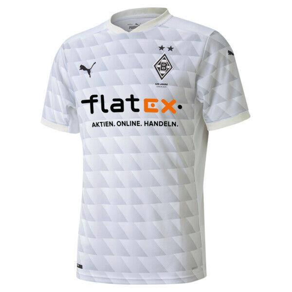 Puma BMG Men's Home Replica Soccer Jersey in White/Grey/Violet, Size XL