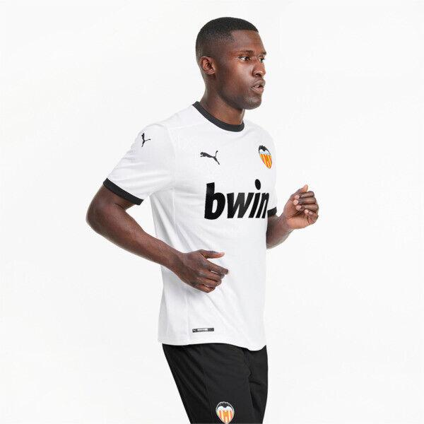 Puma Valencia CF Men's Home Replica Soccer Jersey in White/Black, Size XL