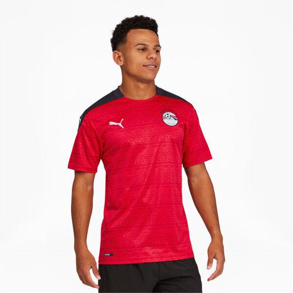 Puma Egypt Men's Home Replica Soccer Jersey in Red/White, Size L