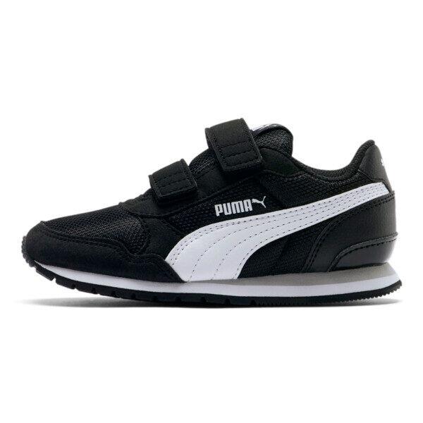 Puma ST Runner v2 Mesh AC Little Kids' Shoes in Black/White, Size 2