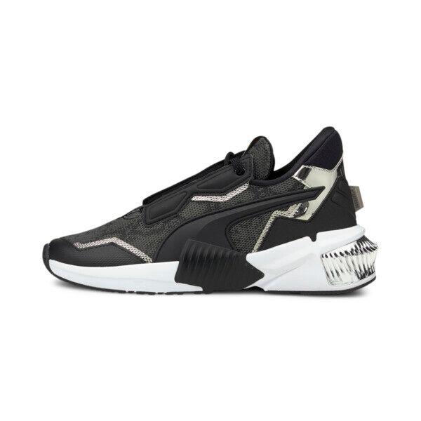 Puma Provoke XT Untamed Women's Training Shoes in Black/Metallic Silver, Size 6