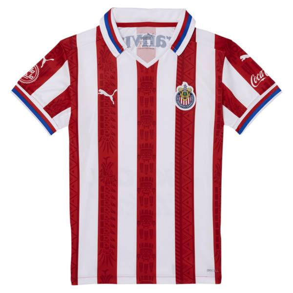 Puma Chivas 20-21 Boys' Home Replica Jersey JR in Red, Size M