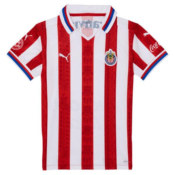 Puma Chivas 20-21 Boys' Home Replica Jersey JR in Red, Size XL
