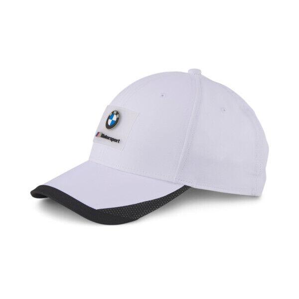 Puma BMW M Motorsport Baseball Cap in White, Size Adult