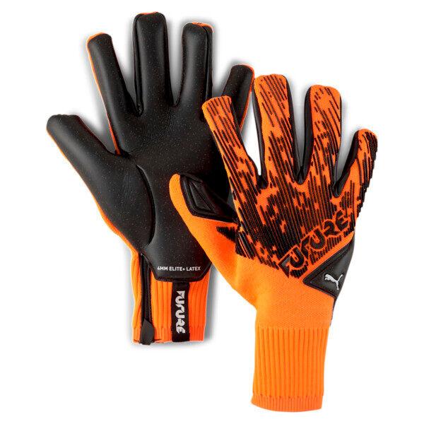 Puma FUTURE Grip 5.1 Hybrid Goalkeeper Gloves in Shocking Orange/Black/White, Size 11