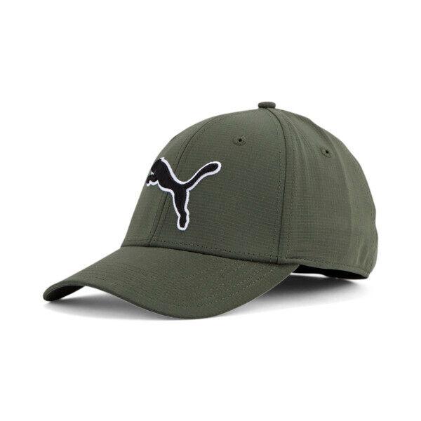 Puma Dillon Stretchfit Cap in Olive, Size S/M