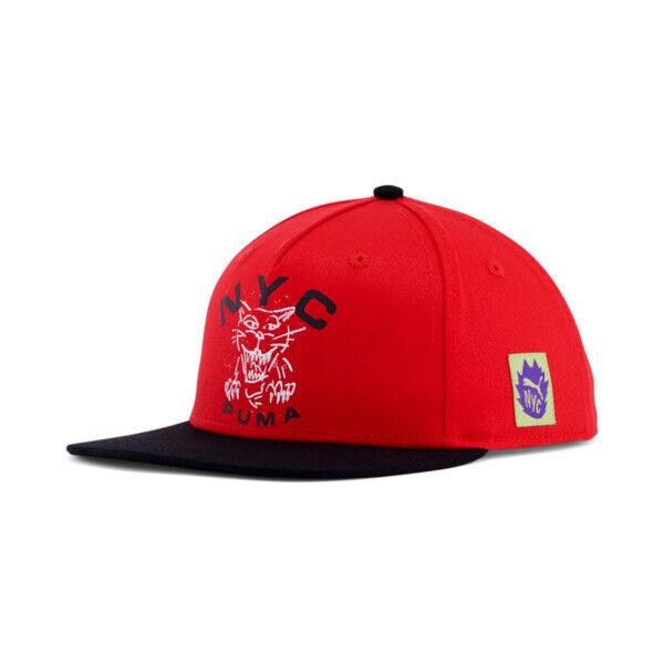 Puma NYC Got Your Back Flat Brim Cap in Red