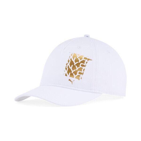 Puma NYC Dawn Adjustable Cap in White/Gold