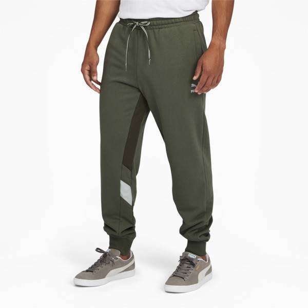 Puma Tailored for Sport Retro Fusion Men's Track Pants in Thyme Green, Size S