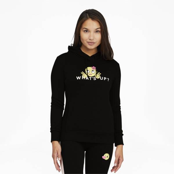 Puma x emoji Women's Hoodie Shoes in Cotton Black, Size L