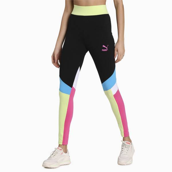 Puma Tailored for Sport Women's Graphic Leggings in Black, Size XS