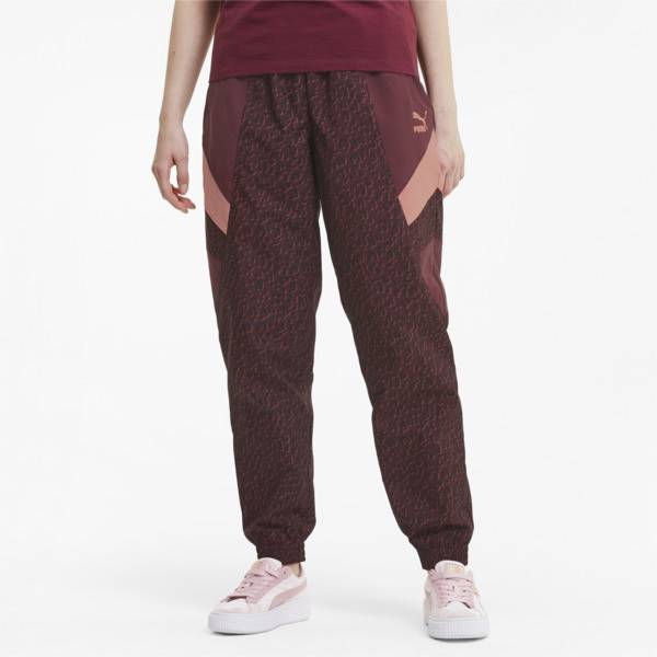 Puma Tailored for Sport Women's Track Pants in Burgundy, Size M
