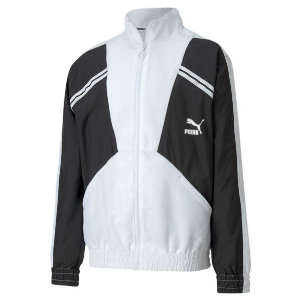 Puma Tailored for Sport Boys' Woven Jacket JR in White, Size S
