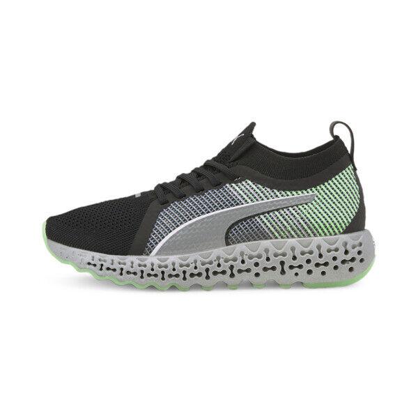 Puma Calibrate Runner Men's Shoes in Black/Elektro Green, Size 14