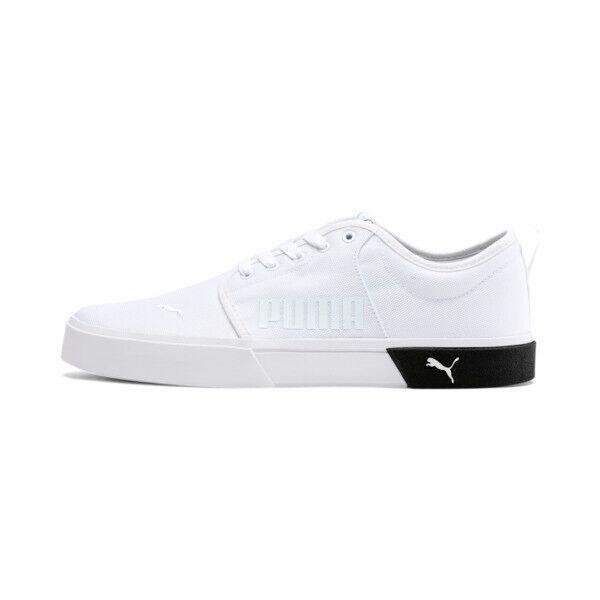 Puma El Rey II Men's Slip-On Shoes in White/Black, Size 10