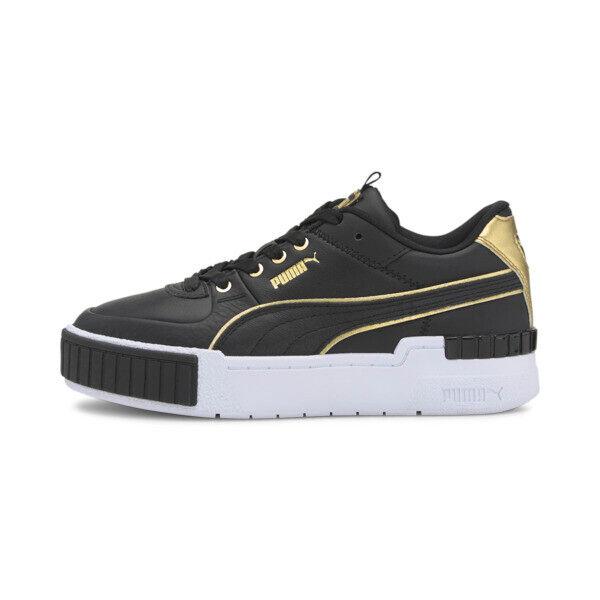 Puma Cali Sport Wabi-Sabi Women's Sneakers in Black/White, Size 8