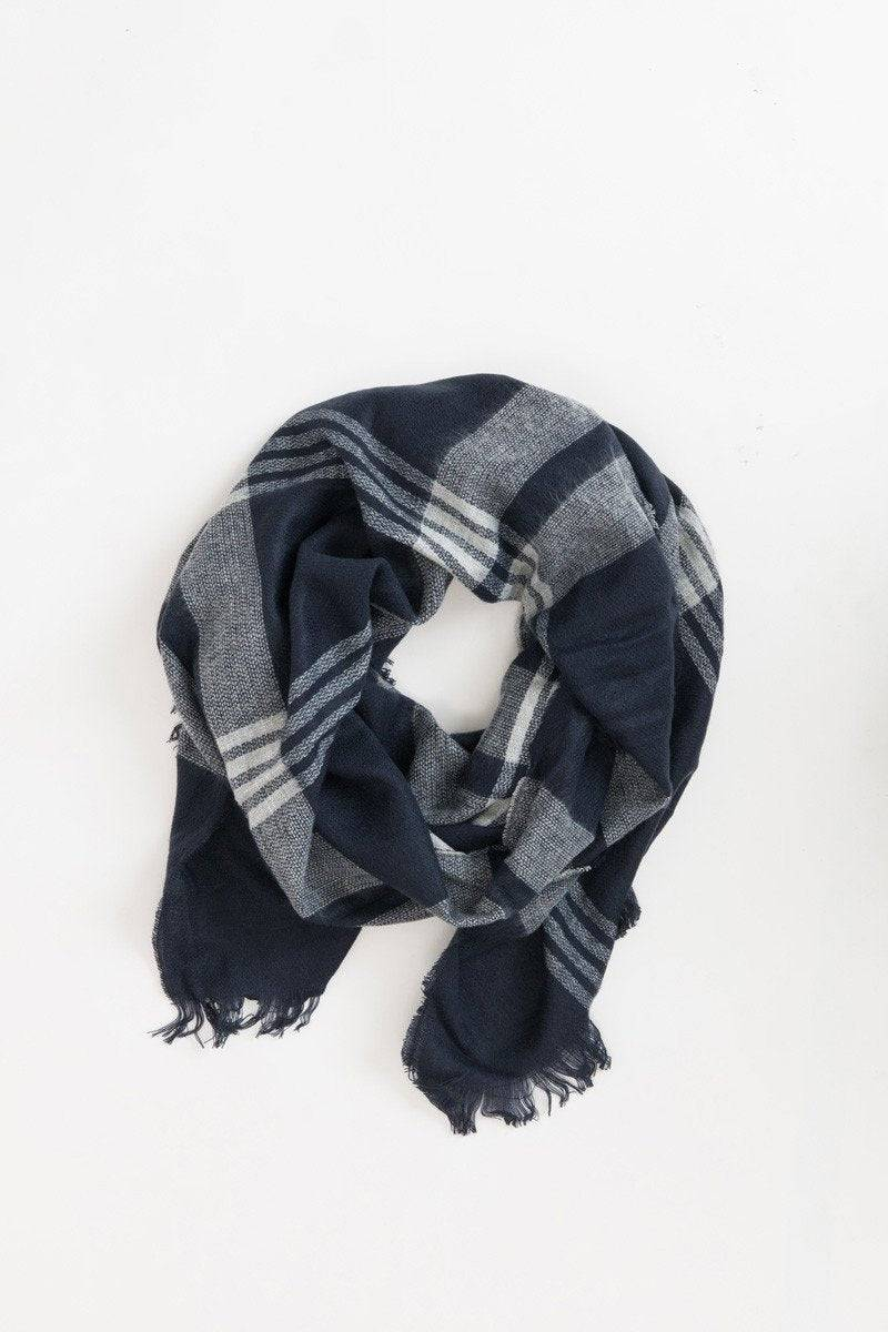 Other Whitney Navy Plaid Scarf