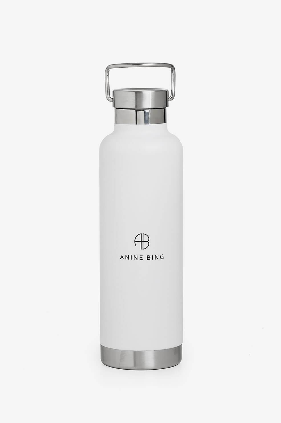 ANINE BING Pia Water Bottle in White  - White - Size: Default Title