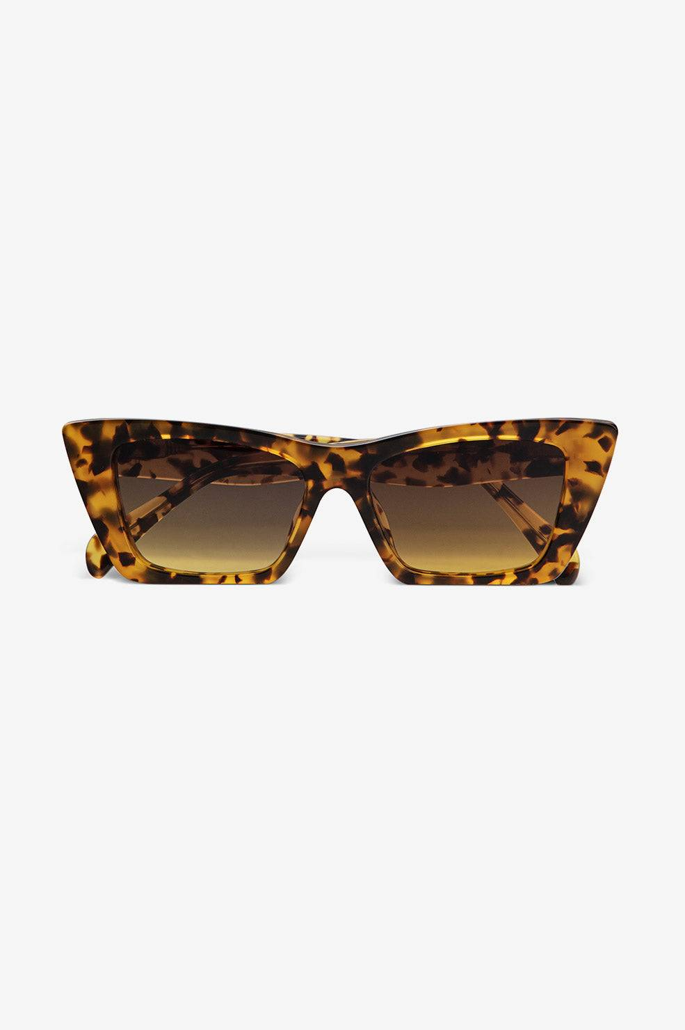ANINE BING Levi Sunglasses in Tortoise  - Size: One Size